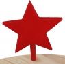 Sebastian design star red, h 7 m, for candlerings