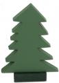 Sebastian design 1 wooden firs dark green, h 17,5 cm