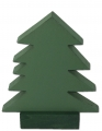 Sebastian design 1 wooden firs dark green, h 15 cm