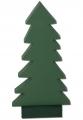 Sebastian design 1 wooden firs dark green, h 21 cm