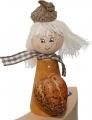 Autumn child with pumpkin, gold,h 10 cm