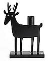 Bengt & Lotta großer Kerzenhalter ROE DEER (Reh), schwarz
