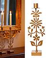 Bengt & Lotta big candle holder FLORAL, gold metallic, h 31