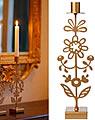 Bengt & Lotta big candle holder FLORAL BUDS, gold metallic, h 31