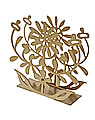 Bengt & Lotta napkin holder FLORAL, gold metallic