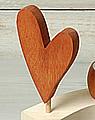 Talvel-Stecker Herz orangebraun