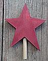 Talvel-Stecker kleiner Stern dunkelrot, h 6,5 cm