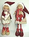 Schwedische, großer Weihnachtskinder, rot, h 40 cm