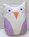 pillow middle Owl pink lila/white