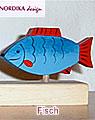 1 Nordika Holzstecker Fisch