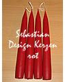 4 große, schwedische Kerzen, rot