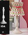 Nordika Lampenfuss weiß Ida, H 25 cm
