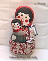 Babuschka Puppen Set, dunkelrot