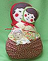 Matroschka Babuschka Puppen Set, rot/helles grün