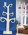 Swedish deco tree with owl white