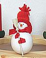 Schneemann mit Besen, 8 cm