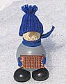 Strickmützen - Tonttu blau mit Akkordeon