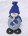 Strickmützen - Tonttu blau mit Flöte
