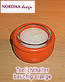1 Tea warmer candle holder bulbous incl. glass, orange