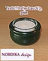 1 Tea warmer candle holder bulbous incl. glass, green