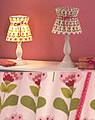 Nordika Lampenschirm TOM R3 rosa Blumenmuster