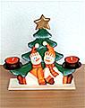 tea light holder fir with snow men