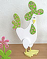 1 Talvel chicken white / lime H 22 cm