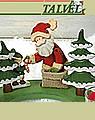 Talvel wood plug set Santa Claus, 3s set
