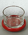 Tealight holder red with glass