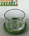 Tealight holder dark green with glass