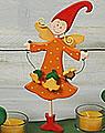 Talvel-Stecker Blumenfee orange