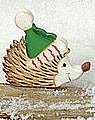 Talvel winter hedgehog, h 6 cm
