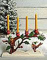 Talvel candle tree winter birds