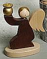 Kerzenhalter Engel kniend dunkelbraun